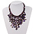 Purple Shell-Composite Bib Necklace - 34cm Length - view 2