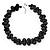 Black Polished Ceramic Bead Twisted Necklace (46cm L/ 6cm Ext)