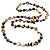 Long Multicoloured Shell Necklace -134cm Length - view 2