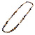 Long Multicoloured Shell Necklace -134cm Length - view 5