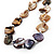 Long Multicoloured Shell Necklace -134cm Length - view 3