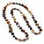 Long Multicoloured Shell Necklace -134cm Length - view 7