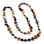 Long Multicoloured Shell Necklace -134cm Length - view 8