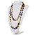 Long Multicoloured Shell Necklace -134cm Length - view 9