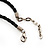 Stunning Green/Antique White/ Black Shell-Composite Leather Cord Necklace - 44cm Length - view 6