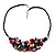 Stunning Purple/Red/Grey Shell-Composite Leather Cord Necklace - 44cm Length - view 4