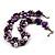 Exquisite Faux Pearl & Shell Composite Silver Tone Link Necklace (Purple & White) - 44cm L/ 3cm Ext - view 8