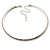 Thin Clear Austrian Crystal Choker Necklace (Silver Plated) - view 7