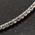 Thin Clear Austrian Crystal Choker Necklace (Silver Plated) - view 4