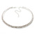 2-Row Austrian Crystal Choker Necklace (Silver Plated) - view 5