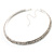 2-Row Austrian Crystal Choker Necklace (Silver Plated) - view 8