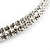 2-Row Austrian Crystal Choker Necklace (Silver Plated) - view 10