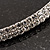 2-Row Austrian Crystal Choker Necklace (Silver Plated) - view 3