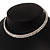 2-Row Austrian Crystal Choker Necklace (Silver Plated) - view 12