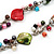 Multicoloured Shell & Imitation Pearl Bead Long Necklace - 134cm Length - view 6