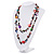 Multicoloured Shell & Imitation Pearl Bead Long Necklace - 134cm Length - view 7