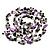 Purple Shell & Black Imitation Pearl Bead Long Necklace - 140cm Length - view 4