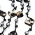 Long Multistrand Black Shell & Simulated Pearl Necklace - 96cm Length - view 3