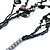 Long Multistrand Black Shell & Simulated Pearl Necklace - 96cm Length - view 5