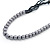 Long Multistrand Black Shell & Simulated Pearl Necklace - 96cm Length - view 6