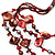 Long Multistrand Red Shell & Simulated Pearl Necklace - 96cm Length - view 4