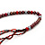 Long Multistrand Red Shell & Simulated Pearl Necklace - 96cm Length - view 6