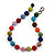 Chunky Multicoloured Glass Beaded Necklace - 56cm Length - view 4