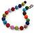 Chunky Multicoloured Glass Beaded Necklace - 56cm Length
