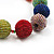 Chunky Multicoloured Glass Beaded Necklace - 56cm Length - view 5