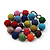 Chunky Multicoloured Glass Beaded Necklace - 56cm Length - view 7