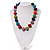 Chunky Multicoloured Glass Beaded Necklace - 56cm Length - view 8
