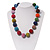 Chunky Multicoloured Glass Beaded Necklace - 56cm Length - view 2