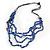 4 Strand Blue Glass Bead Black Cotton Cord Necklace - 60cm Length - view 6