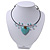 Romantic Turquoise Bead 'Heart' Flex Choker Necklace - Adjustable - view 9
