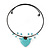Romantic Turquoise Bead 'Heart' Flex Choker Necklace - Adjustable - view 2