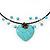 Romantic Turquoise Bead 'Heart' Flex Choker Necklace - Adjustable - view 6