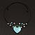 Romantic Turquoise Bead 'Heart' Flex Choker Necklace - Adjustable - view 8
