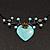Romantic Turquoise Bead 'Heart' Flex Choker Necklace - Adjustable - view 3