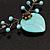 Romantic Turquoise Bead 'Heart' Flex Choker Necklace - Adjustable - view 5