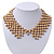 'French Collar' Beaded Choker Necklace In Matt Gold Finish - 38cm Length/ 7cm Extension - view 6