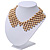'French Collar' Beaded Choker Necklace In Matt Gold Finish - 38cm Length/ 7cm Extension - view 8