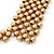 'French Collar' Beaded Choker Necklace In Matt Gold Finish - 38cm Length/ 7cm Extension - view 4