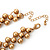 'French Collar' Beaded Choker Necklace In Matt Gold Finish - 38cm Length/ 7cm Extension - view 5