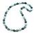 Long Grey/Pale Green/Light Grey Acrylic Nugget Necklace - 90cm Length