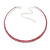 2-Row Pink Austrian Crystal Choker Necklace (Silver Plated)