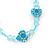 Children's Blue 'Heart' Necklace - 36cm Length/ 4cm Extension - view 3