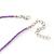 Children's Purple 'Heart' Necklace - 36cm Length/ 4cm Extension - view 4