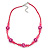 Children's Deep Pink 'Happy Face' Necklace - 36cm Length/ 4cm Extension