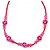 Children's Deep Pink 'Happy Face' Necklace - 36cm Length/ 4cm Extension - view 2