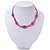 Children's Deep Pink 'Happy Face' Necklace - 36cm Length/ 4cm Extension - view 7